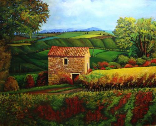 Häuschen in den Weinbergen