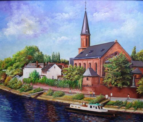 Öl Kostheimer katholische Kirche