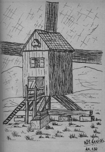 Anfänge Windmühle 1950