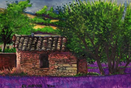 Alte Steinhütte im Lavendelfeld - Provence
