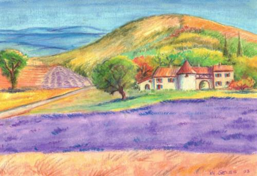 Gut in der Provence mit Lavendelfeld