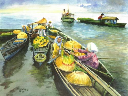 Auf dem Fluß - Asien
