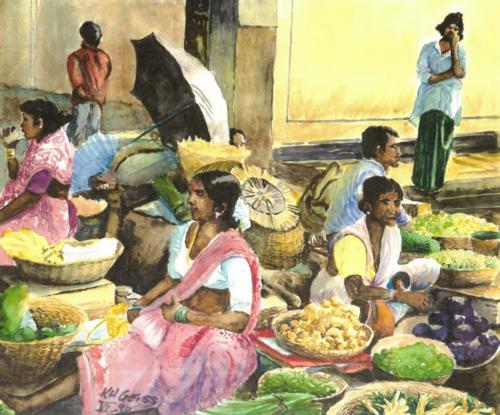 Indische Marktfrauen
