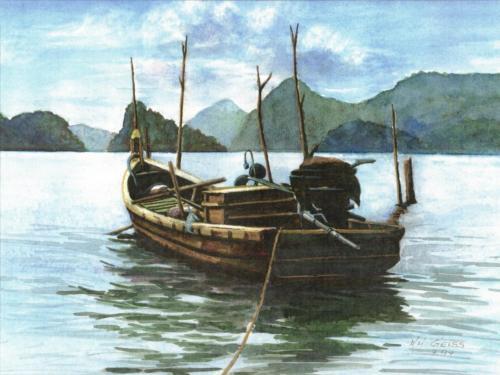 Kahn auf dem Meer