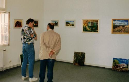 Kunst-Ausstellung K-H Geiss Fa. Rockendorf Kostheim 1