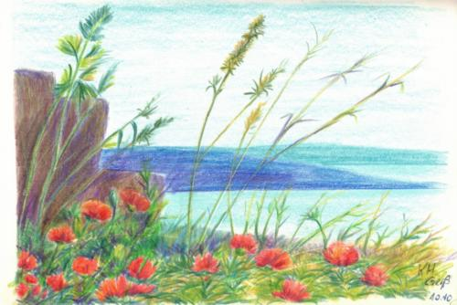 Blumen und Gräser