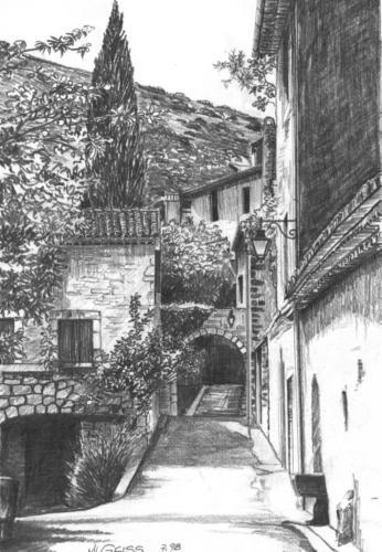 Gasse in einem franz. Dorf
