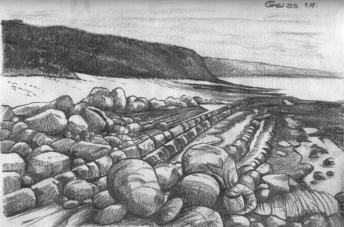 Küste mit Felsen