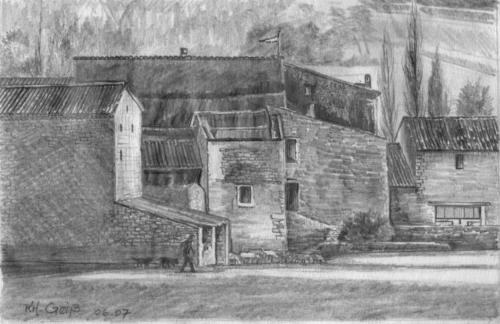 alte Gemäuer und Häuser